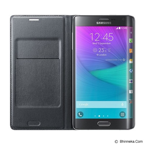 SAMSUNG Galaxy Note Edge Wallet Flip Cover - Charcoal Black - Casing Handphone / Case