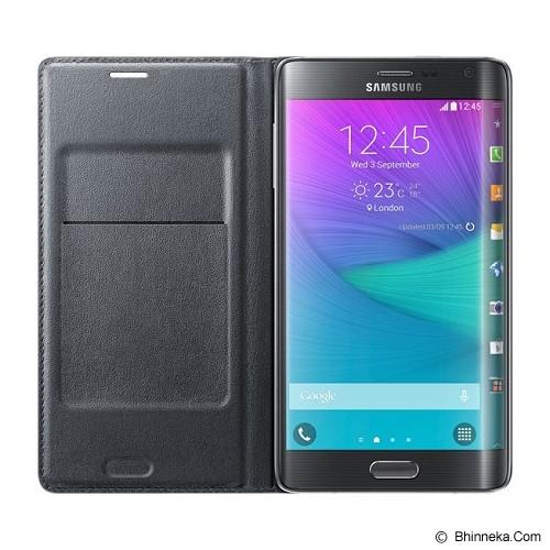 SAMSUNG Galaxy Note Edge Wallet Flip Cover - Charcoal Black - Casing Handphone / Case