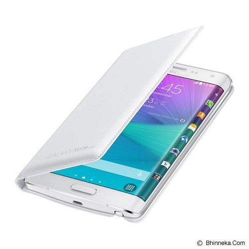 SAMSUNG Galaxy Note Edge Wallet Flip Cover - Frost White - Casing Handphone / Case