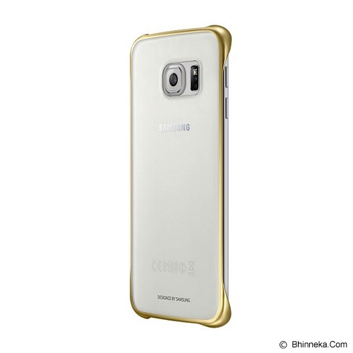 SAMSUNG Galaxy S6 Clear Cover Case - Gold - Casing Handphone / Case