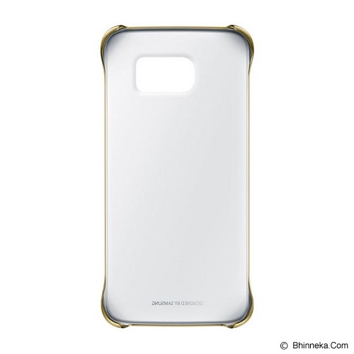 SAMSUNG Galaxy S6 Edge Clear Cover Case - Gold (Merchant) - Casing Handphone / Case