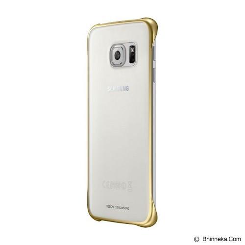 SAMSUNG Galaxy S6 Edge Clear Cover Case - Gold (Merchant) - Casing Handphone / Case