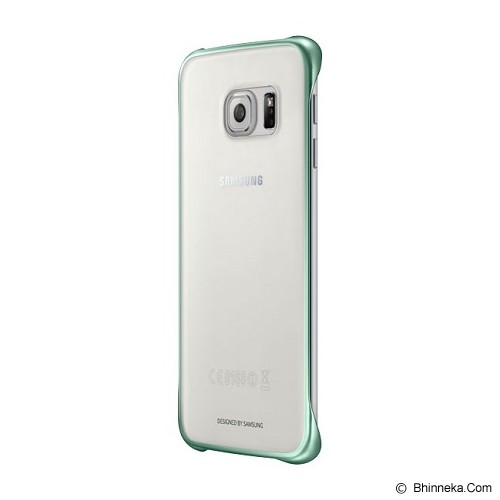 SAMSUNG Galaxy S6 Edge Clear Cover Case - Green (Merchant) - Casing Handphone / Case