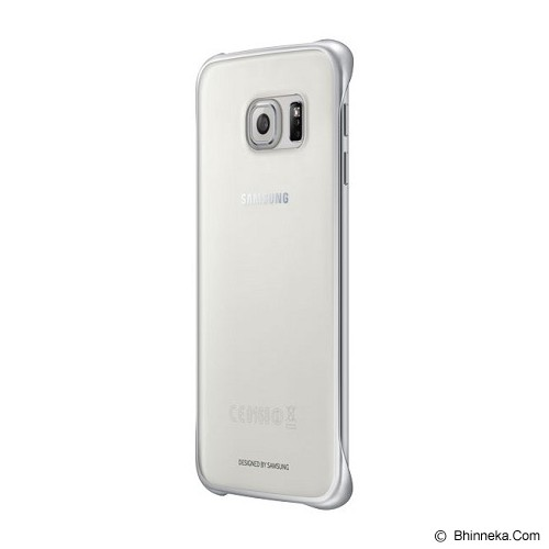 SAMSUNG Galaxy S6 Edge Clear Cover Case - Silver (Merchant) - Casing Handphone / Case