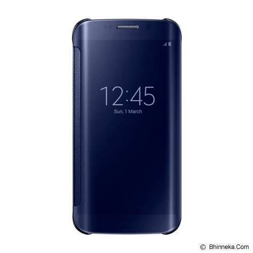 SAMSUNG Galaxy S6 EDGE Clear View Cover - Black - Casing Handphone / Case