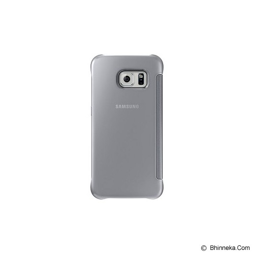 SAMSUNG Galaxy S6 EDGE Clear View Cover - Silver - Casing Handphone / Case