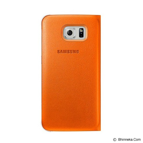SAMSUNG Galaxy S6 S-View Flip Cover Case - Orange - Casing Handphone / Case
