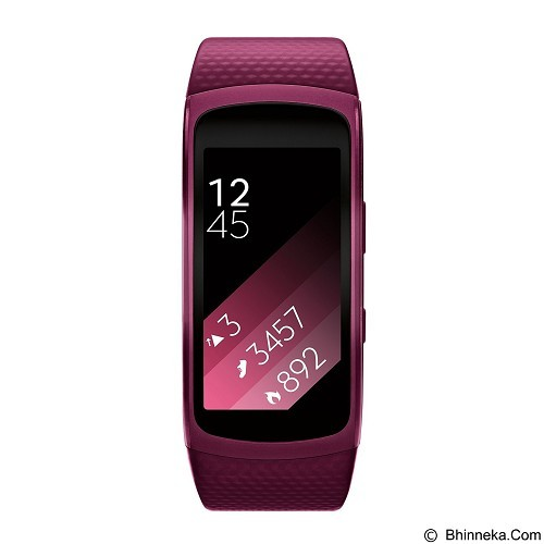 SAMSUNG Gear Fit2 Long Strap [SM-R3600DANXSE] - Pink (Merchant) - Smart Watches