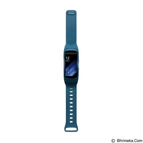 SAMSUNG Gear Fit2 Short Strap [SM-R3600DANXSE] - Blue (Merchant) - Smart Watches