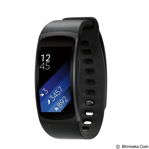 SAMSUNG Gear Fit2 Short Strap [SM-R3600DANXSE] - Dark Grey (Merchant) - Smart Watches