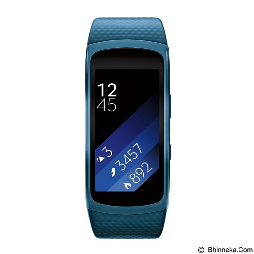 SAMSUNG Gear Fit2 Short Strap [SM-R3600ZBNXSE] - Blue - Smart Watches