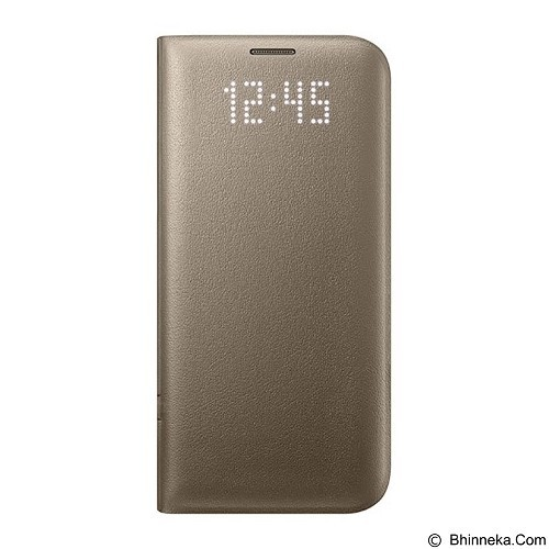 SAMSUNG LED View Cover Case for Galaxy S7 - Gold - Casing Handphone / Case