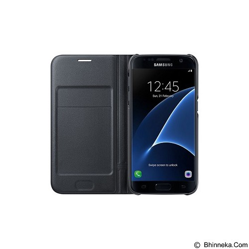 SAMSUNG LED Wallet for Galaxy S7 Flat [EF-NG930PBEGWW] - Black - Casing Handphone / Case