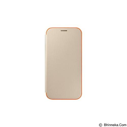 SAMSUNG Neon Flip Cover for Samsung Galaxy A7 (2017) [EF-FA720PFEGWW] - Gold - Casing Handphone / Case