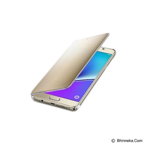 SAMSUNG Noble View Clear Case for Galaxy Note 5 [EF-ZN920CFEGWW] - Gold - Casing Handphone / Case
