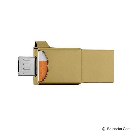 SAMSUNG OTG 3in1 Evo 32GB - Gold (Merchant) - Usb Flash Disk Dual Drive / Otg