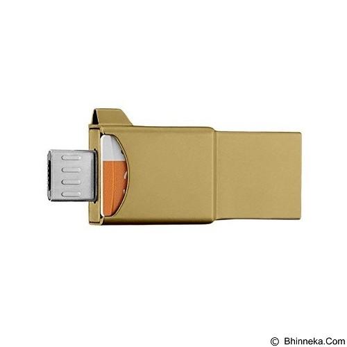 SAMSUNG OTG 3in1 Evo 32GB - Gold (Merchant) - Usb Flash Disk Dual Drive / Otg