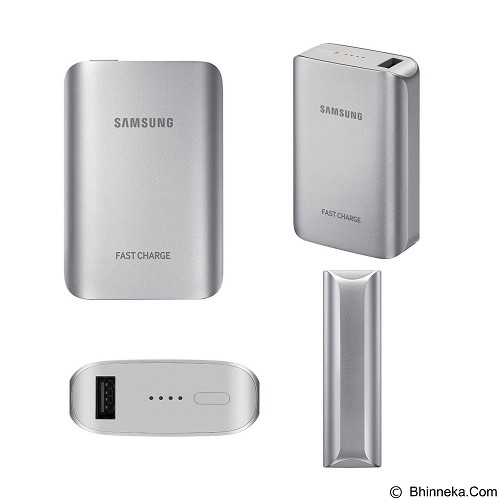 SAMSUNG Powerbank Fast Charge 5100mAh - Silver (Merchant) - Portable Charger / Power Bank