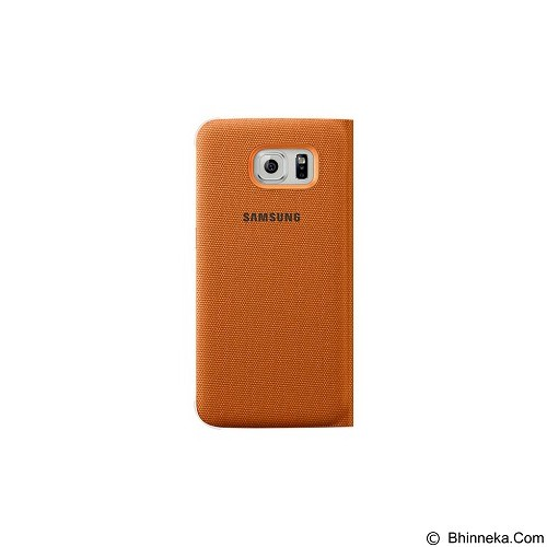 SAMSUNG S View Cover Canvas Galaxy S6 [EF-CG920BOEGWW] - Denim Orange - Casing Handphone / Case