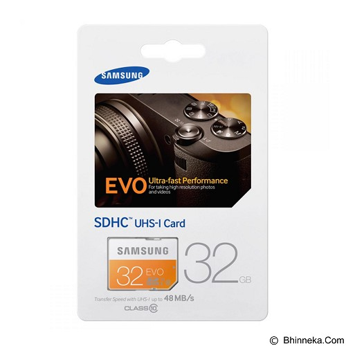 SAMSUNG SDHC 32GB EVO Class 10 (Merchant) - Secure Digital / Sd Card
