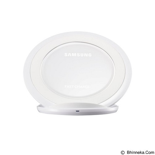SAMSUNG Standing Wireless Charging Pad [EP-NG930BWEGWW] - White - Charger Handphone