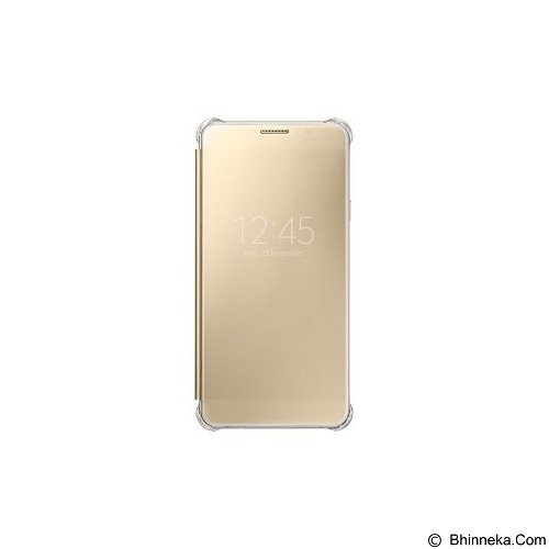 SAMSUNG View Clear Case for Galaxy A7 2016 [EF-ZA710CFEGWW] - Gold - Casing Handphone / Case