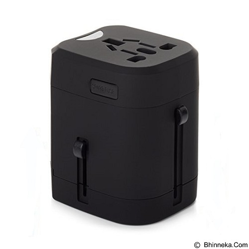 SAN TECH Loop Universal Travel Adapter 4 in 1 US UK EU AU Plug with 2.5A USB (Merchant) - Universal Travel Adapter