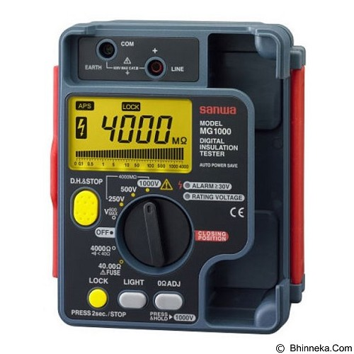 SANWA Digital Insulation Tester [MG1000] - Tester Listrik