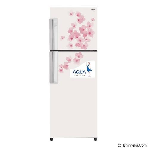 AQUA Kulkas 2 Pintu [AQR-D259FW] - Flower White - Kulkas 2 Pintu
