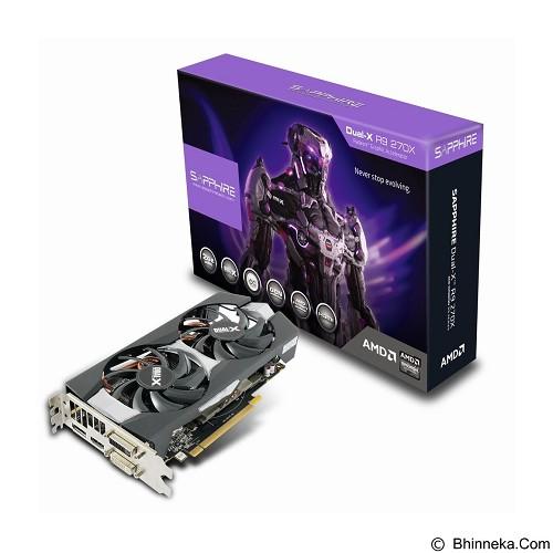 SAPPHIRE R9 270X DUAL-X WITH BOOST 2GB GDDR5 [11217-01-41G] - Vga Card Amd Radeon