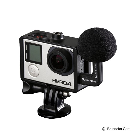 SARAMONIC Gomic Profesional Stereo Ball Microphone For Gopro (Merchant) - Microphone Live Vocal