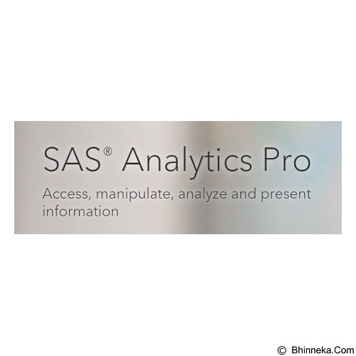 SAS Analytics Pro for PC Use [3 User] - Software Office Application Licensing