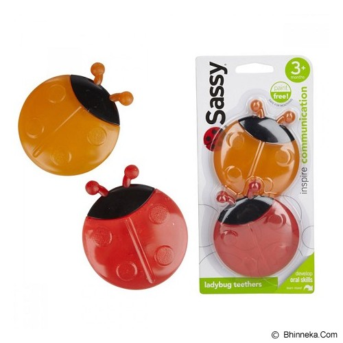SASSY Lady Bug Teether - Orange Red - Dot Bayi / Pacifier & Teethers