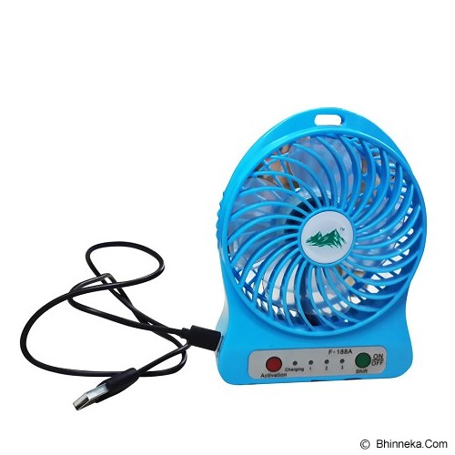SB MINI FAN Kipas Angin Rechargeable [F-188] - Kipas Angin Meja