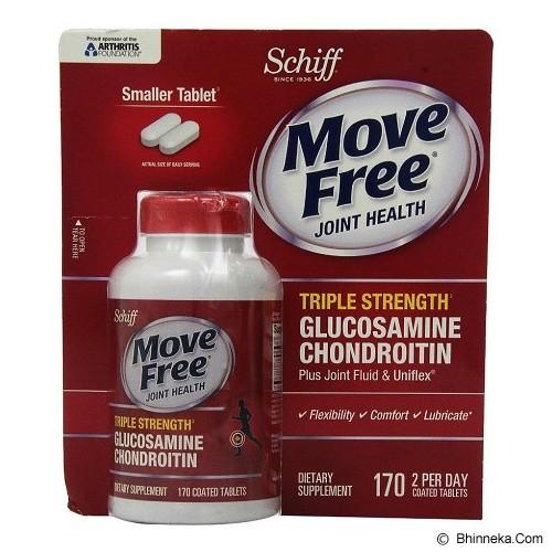 SCHIFF Move Free Advanced Triple Strength Plus Chondroitin 170 Tablet Kecil [SGTS170C] - Suplement Peningkat Metabolisme Tubuh