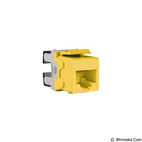SCHNEIDER ELECTRIC Cat. 6 Keystone Modular Jack [DC6KYSTUYL] - Yellow - Modular Jack