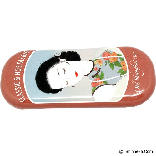 SCOOP PRODUCTS Eye Glasses Case - Old Shanghai Brown (V) - Tempat Kacamata Wanita