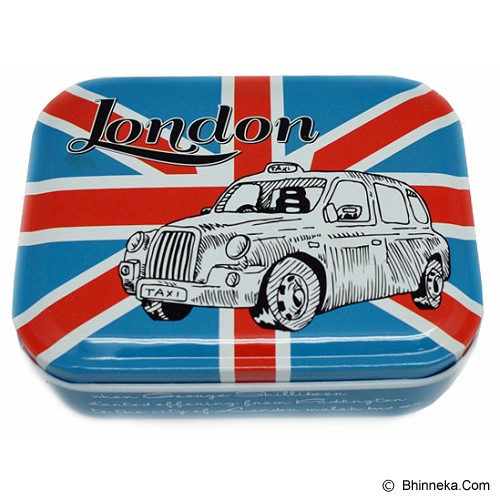 SCOOP PRODUCTS Tin Box London Taxi - Blue (V) - Container