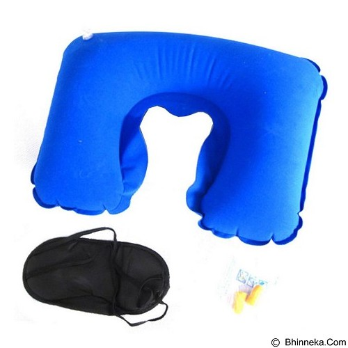 SDS Inflatable Travel Pillow - Light Blue - Bantal Dekorasi