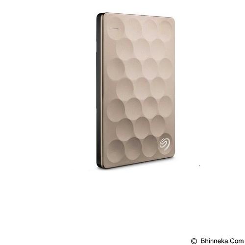 SEAGATE Backup Plus Ultra Slim 1TB - Gold (Merchant) - Hard Disk External 2.5 Inch