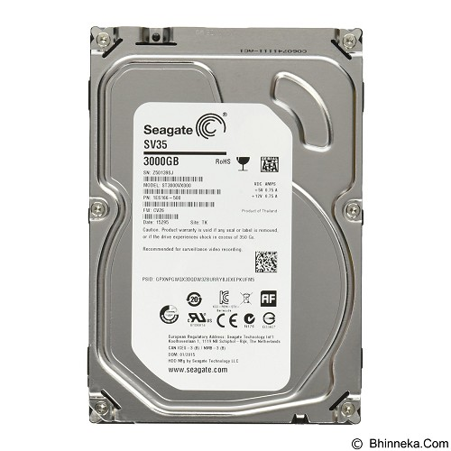 SEAGATE SV35 Series 3TB [ST3000VX000] - Hdd Internal Sas 3.5 Inch