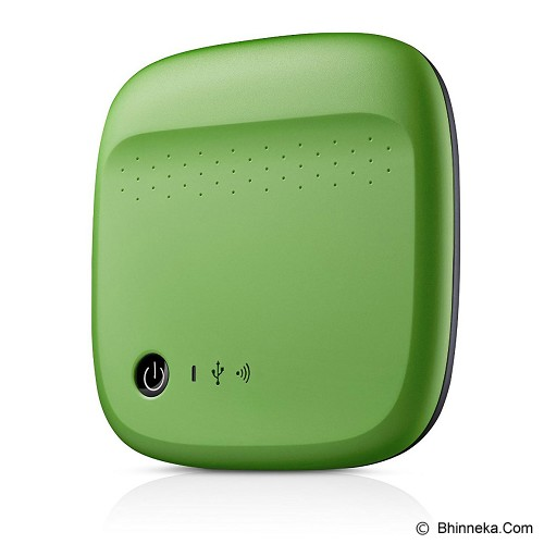 SEAGATE Wireless Mobile Storage [STDC500401] - Green - Hard Disk External 2.5 Inch