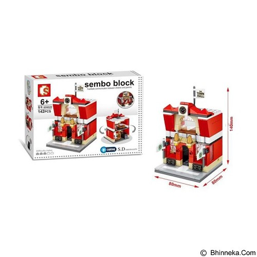 SEMBO SD6520 Town Hall [305002773] (Merchant) - Building Set Architecture