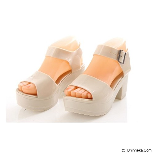 SENDAL UNIK MURAH Jelly Princess Shoes Size 38 - Peach - Wedges Wanita