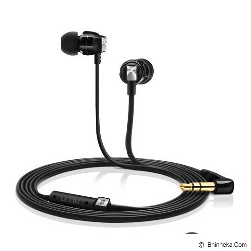 SENNHEISER Earphone CX 3.00 - Black - Earphone Ear Monitor / Iem