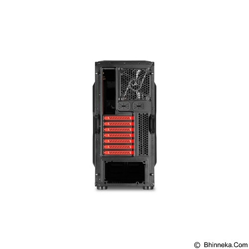 SHARKOON Casing PC [BD28] - Red (Merchant) - Computer Case Middle Tower