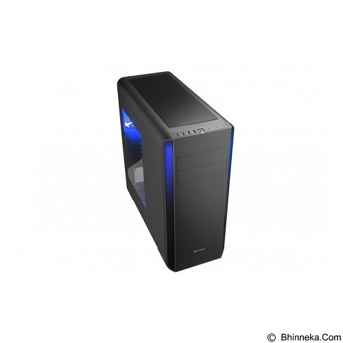 SHARKOON Casing PC [BW9000-W] - Black (Merchant) - Computer Case Middle Tower