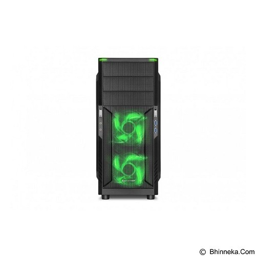 SHARKOON Casing PC [T3-W] - Green (Merchant) - Computer Case Middle Tower