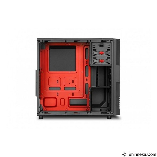 SHARKOON Casing PC [T3-W] - Red (Merchant) - Computer Case Middle Tower
