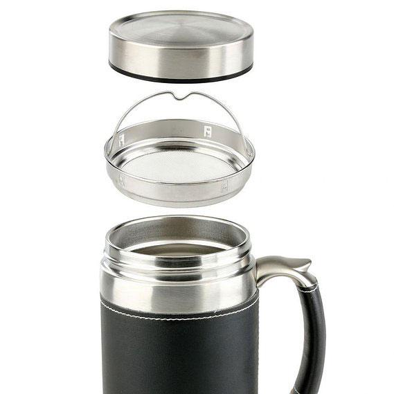 SHUMA S/S Vacuum Mug BG 450ml Leather - Gelas